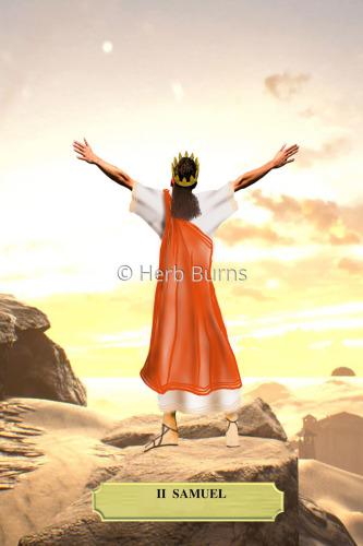 King David singing praise