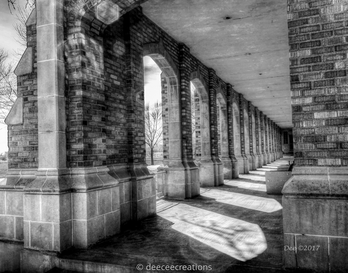 Corridor at Holy Cross Abbey (large view)