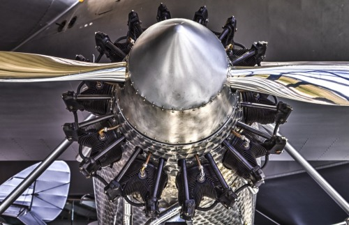 Spirit of St Louis' Wright  J-5C Whirlwind radial engine