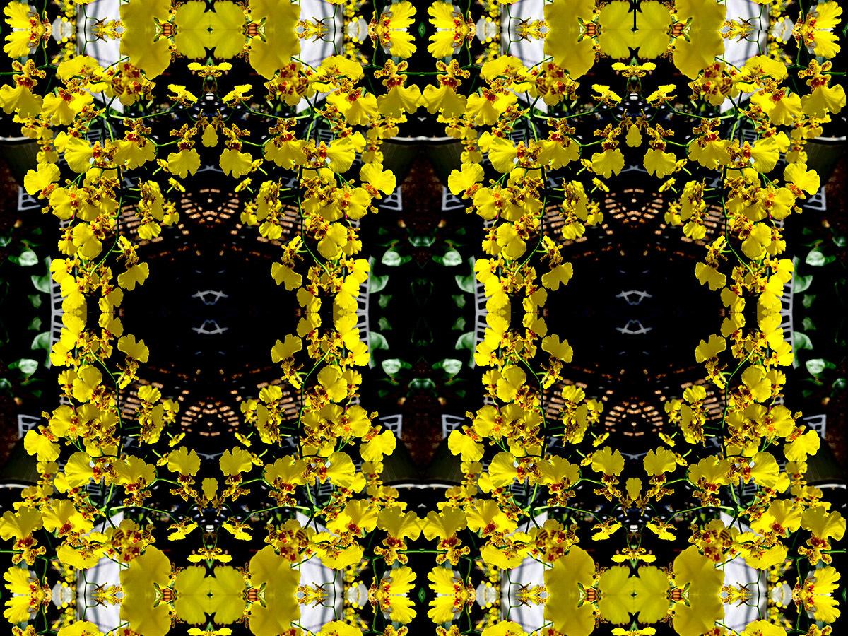 Divine Nature (Floral Landscape) Tropical (Lemon) (large view)