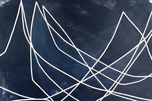 Waterline (Indigo) II by Heidi Carlsen-Rogers
