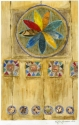 A contemporary mixed media painting of a Qasimi Door Panel on paper (thumbnail)