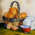 Colorful still life of oranges (thumbnail)