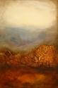 Mixed Media, desertscape, yellows, orange, sienna, brown (thumbnail)