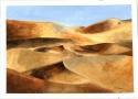 Mixed Media, Paper, Sand dunes, dunescape, yellow, golden (thumbnail)