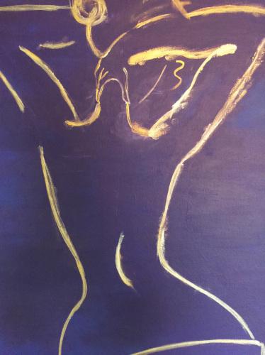 Golden Back Nude