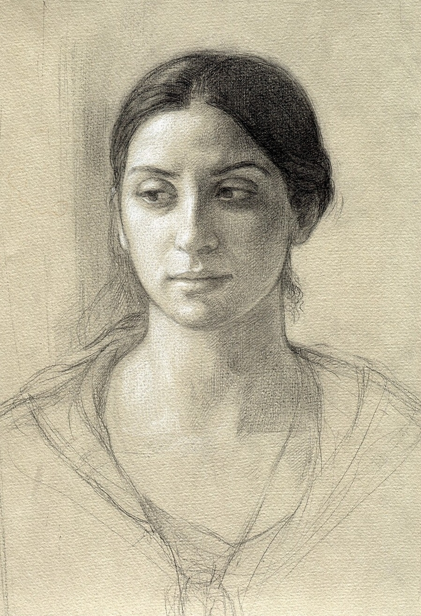 Portrait of deidre study by helen uger
