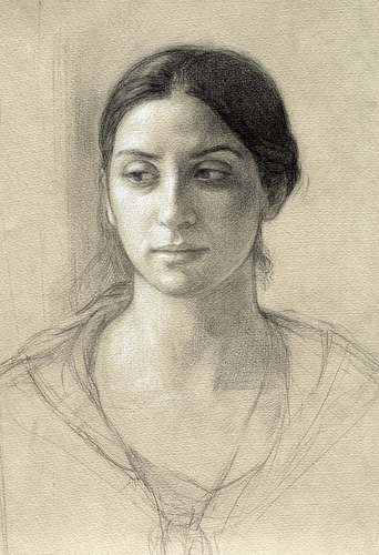 Portrait of Deidre, Study