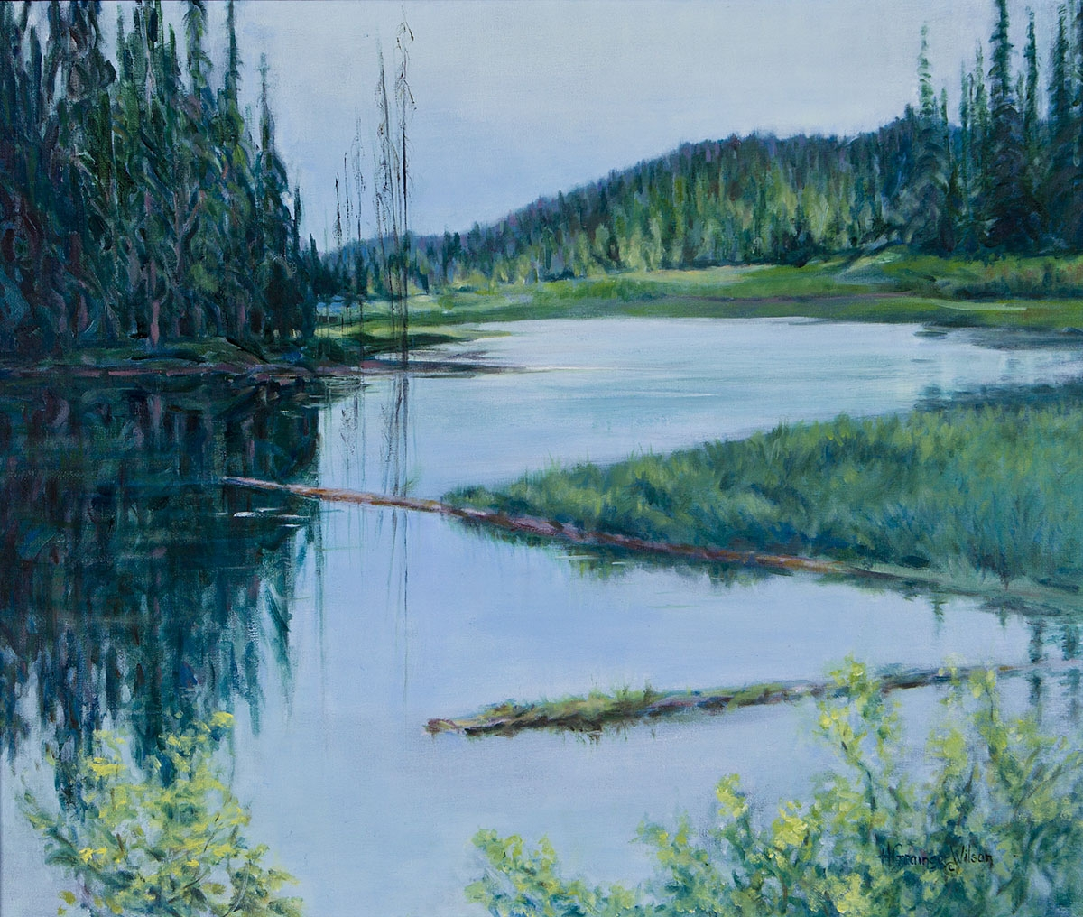Yukon Pond by Helen Grainger Wilson (large view)