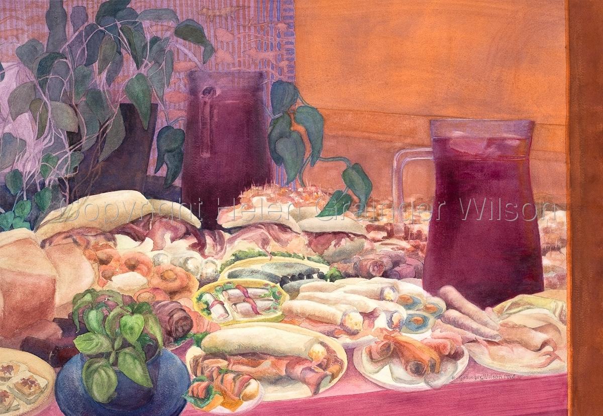 Sangria and Tapas, San Sebastian by Helen Grainger Wilson (large view)