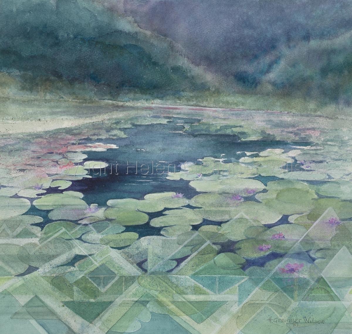 Coeur d'Alene Waterlilies by Helen Grainger Wilson (large view)