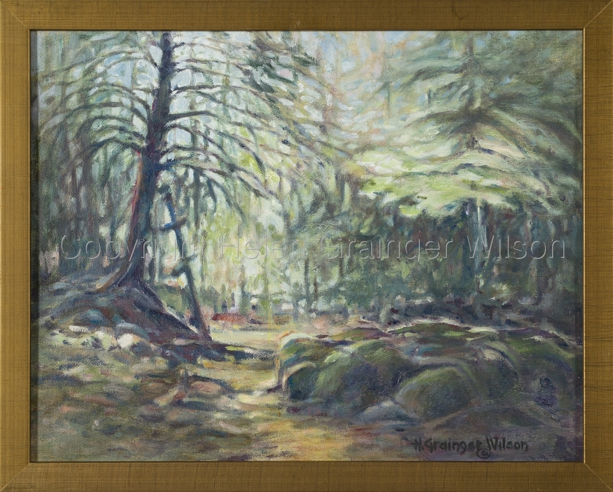 Russian Cemetery, Sitka VII by Helen Grainger Wilson (large view)