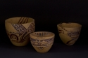 In the Beginning, incised stoneware bowls by Helen Grainger Wilson (thumbnail)