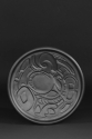 Lunar Night, incised black porcelain plate by Helen Grainger Wilson (thumbnail)