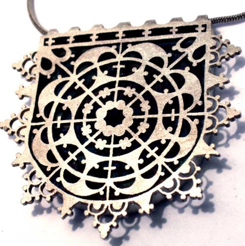 Lace pendant