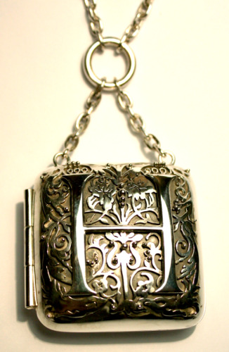 Silver monogram locket