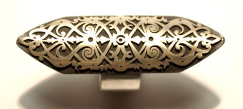 Silver shield ring