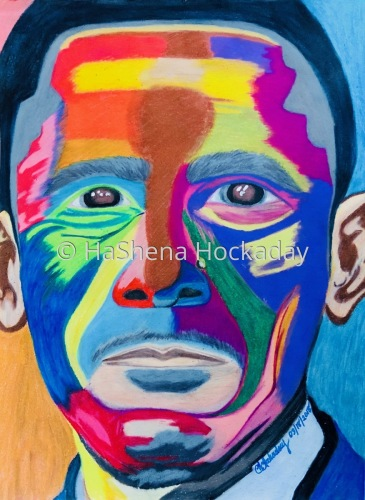 President Barack Obama by HaShena Hockaday's Creations
