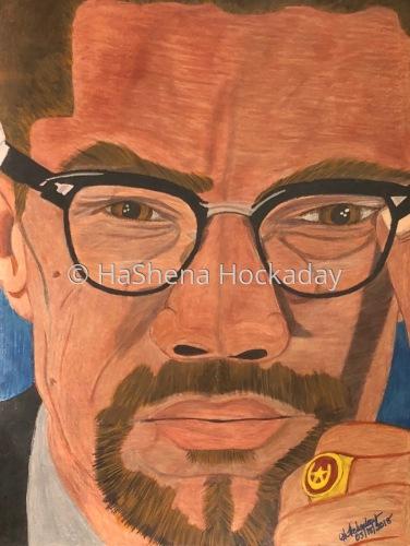 Malcolm X by HaShena Hockaday's Creations