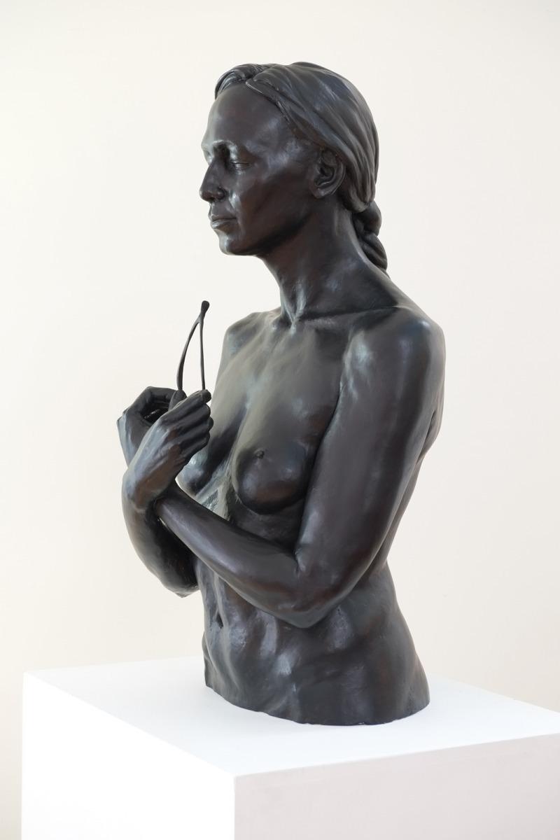 Harold kalmus sculpture portrait  figure sculpture wishbone realist figurative (large view)