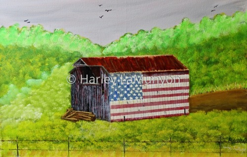 Flag Barn on Vasco Rd (version II) #75