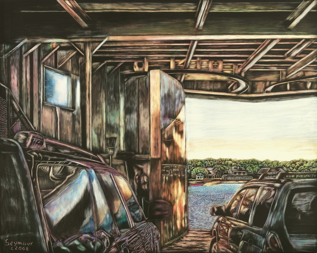 """Arrival"" depicts Martha's Vineyard Ferry arriving at Oak Bluffs on Martha's Vineyard. (large view)"