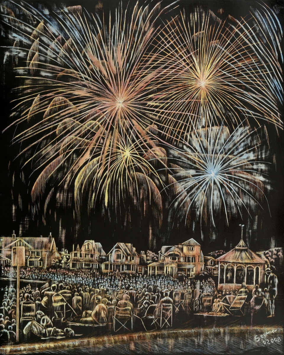 Oak Bluffs Fireworks (Sold $3000) (large view)