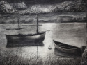 Serenity in Black and White (Sold-2000) (thumbnail)
