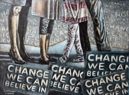 Change We Can Believe In ( Sold $3000) (large view)