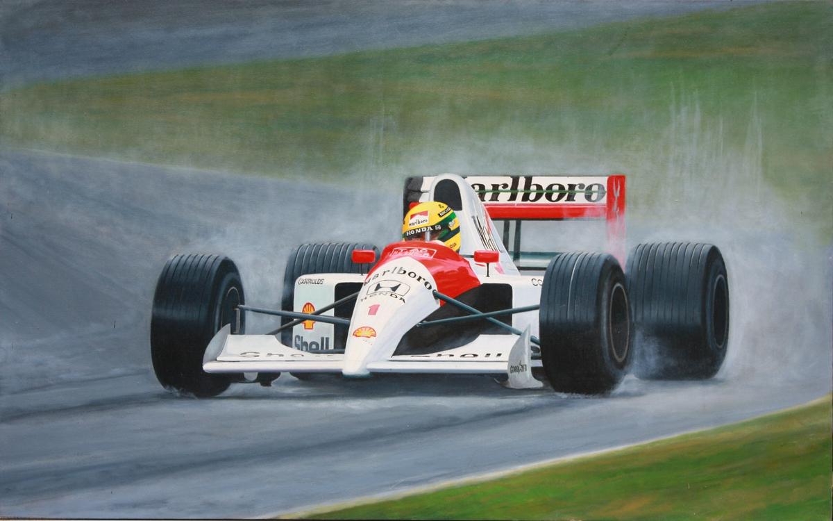 Grand Prix art, Senna (large view)