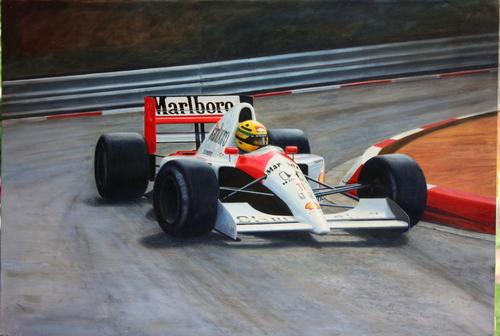Ayrton Senna, Monaco by O Hoffstad