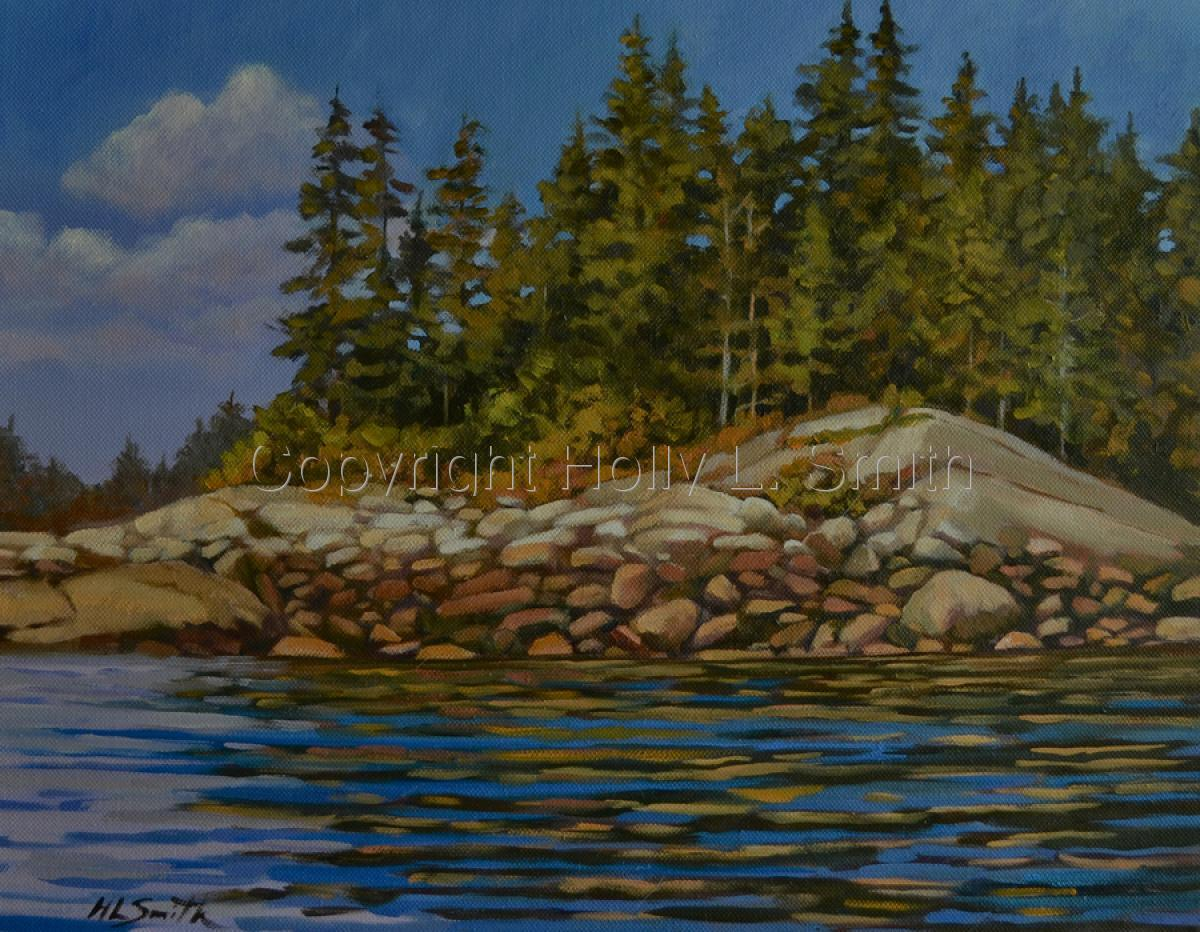 Afternoon View of Vinalhaven/Sold (large view)