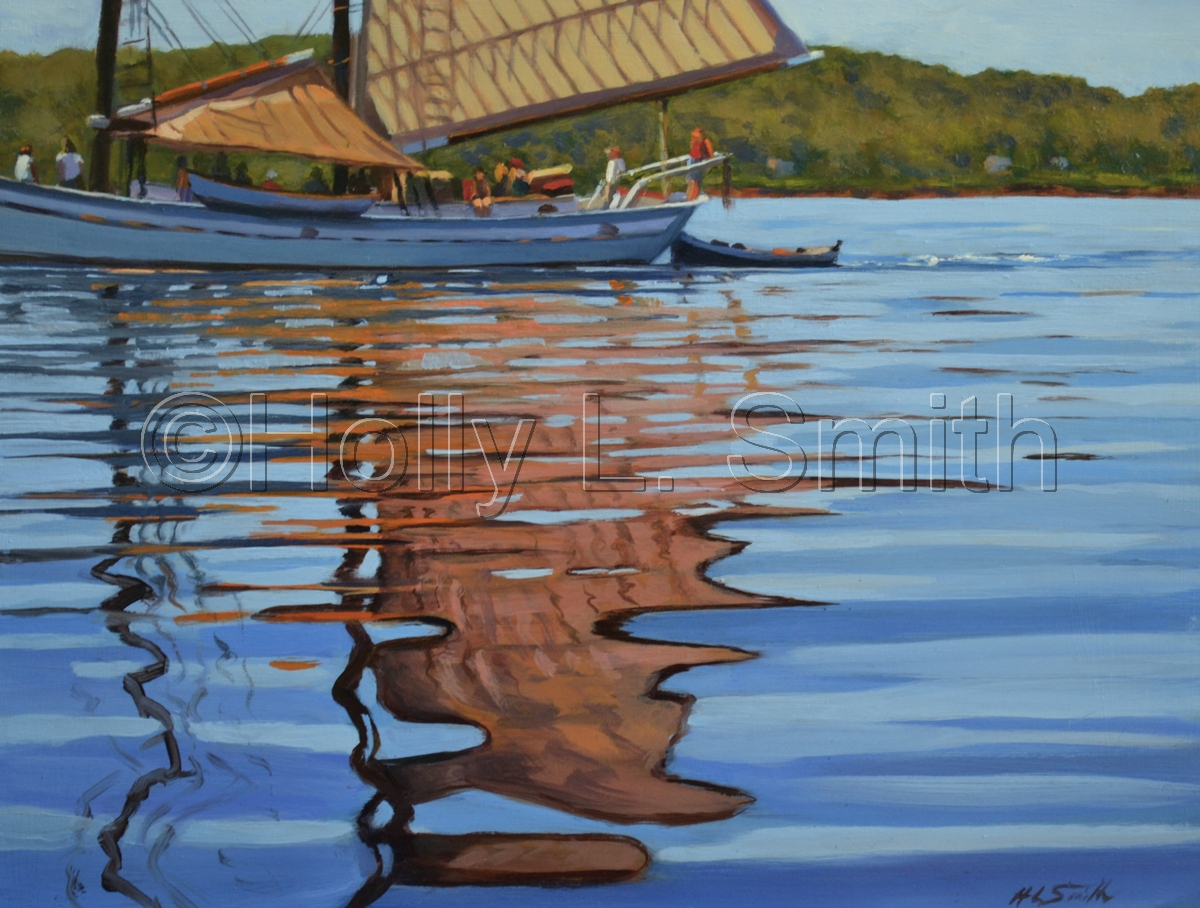 """""""Morning Sail"""" 12x16 SOLD (large view)"""