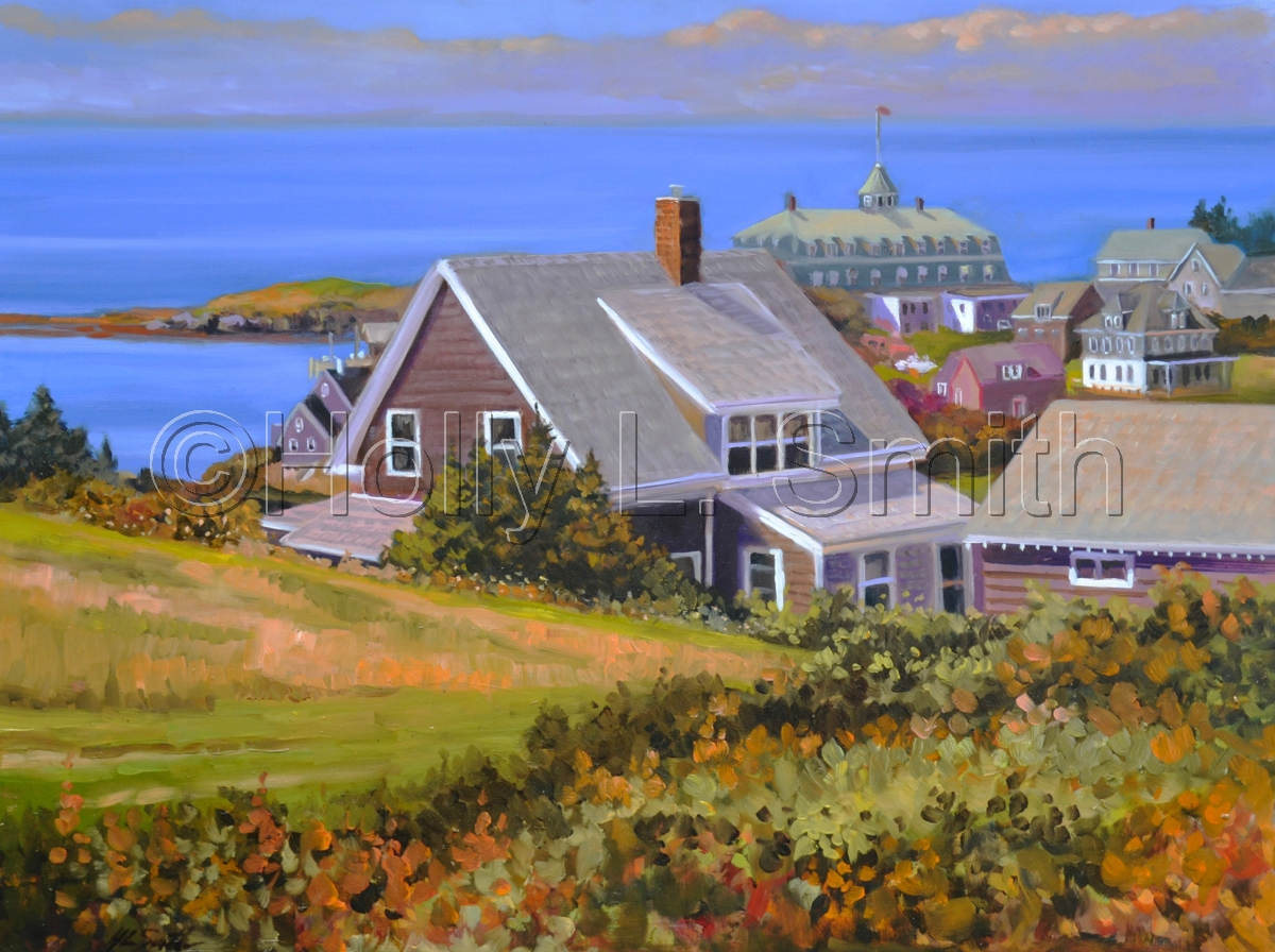 Hillside View Of Monhegan (large view)