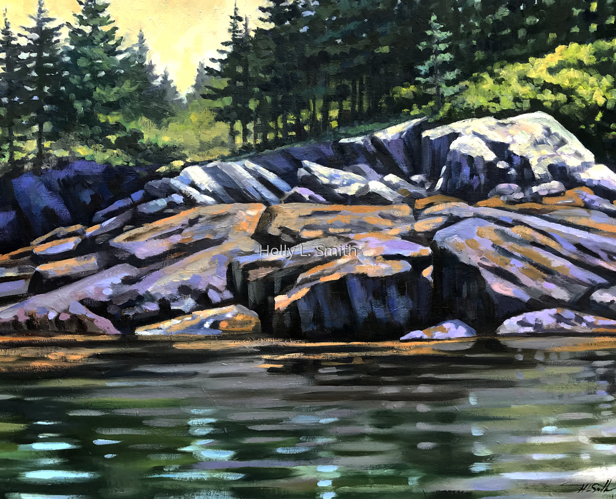 The Rocky Shores Of Eagle Island (large view)