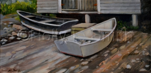 Monhegan Boats / SOLD by Holly L. Smith