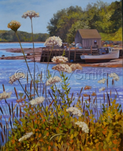 """""""Queen Anne's Lace At The Keag"""" SOLD by Holly L. Smith"""