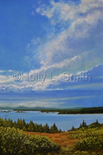 Stormfront Approaches Eagle Island/Sold by Holly L. Smith