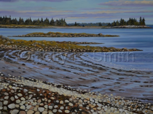 Crescent Beach At Low Tide