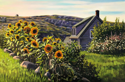 Sunflowers On Monhegan by Holly L. Smith