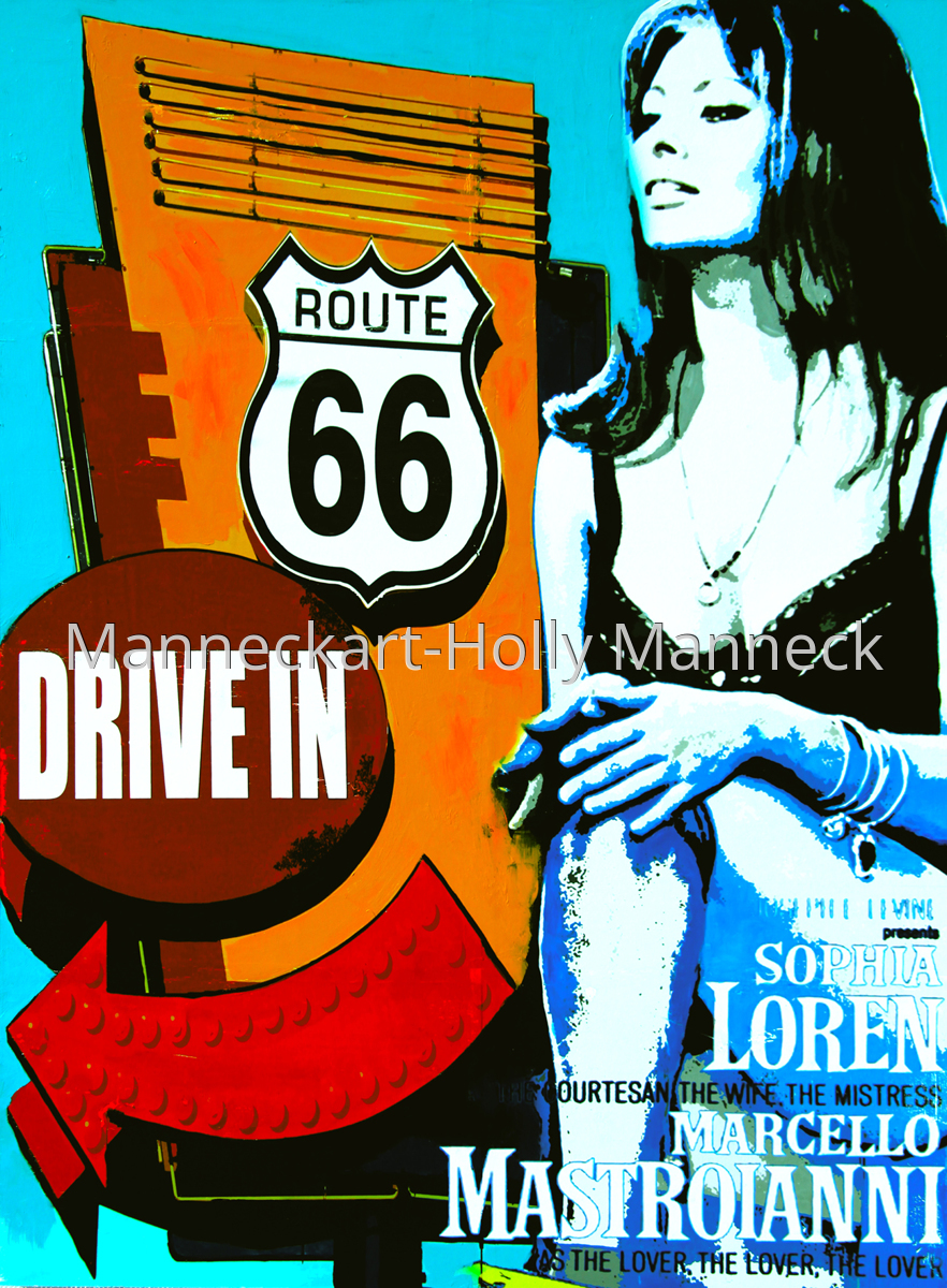 Route 66 and Drive In (large view)