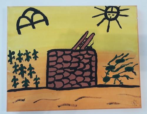 Hopi KIva,  by Iva Honyestewa Hopi Basket Weaver and Jeweler Richard Honyestewa Hopi Painter & Photography