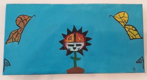 Hopi Sunflower by Iva Honyestewa Hopi Basket Weaver and Jeweler Richard Honyestewa Hopi Painter & Photography