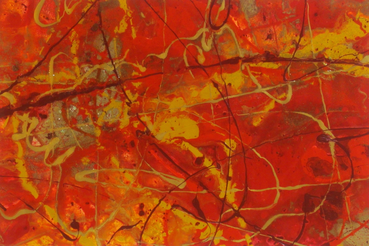 Love Hurts II Original Painting by Ryan Hopkins the Abstract Artist (large view)
