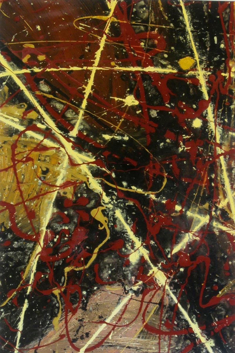 One And A Half Stars I Original Painting by Ryan Hopkins the Abstract Artist (large view)