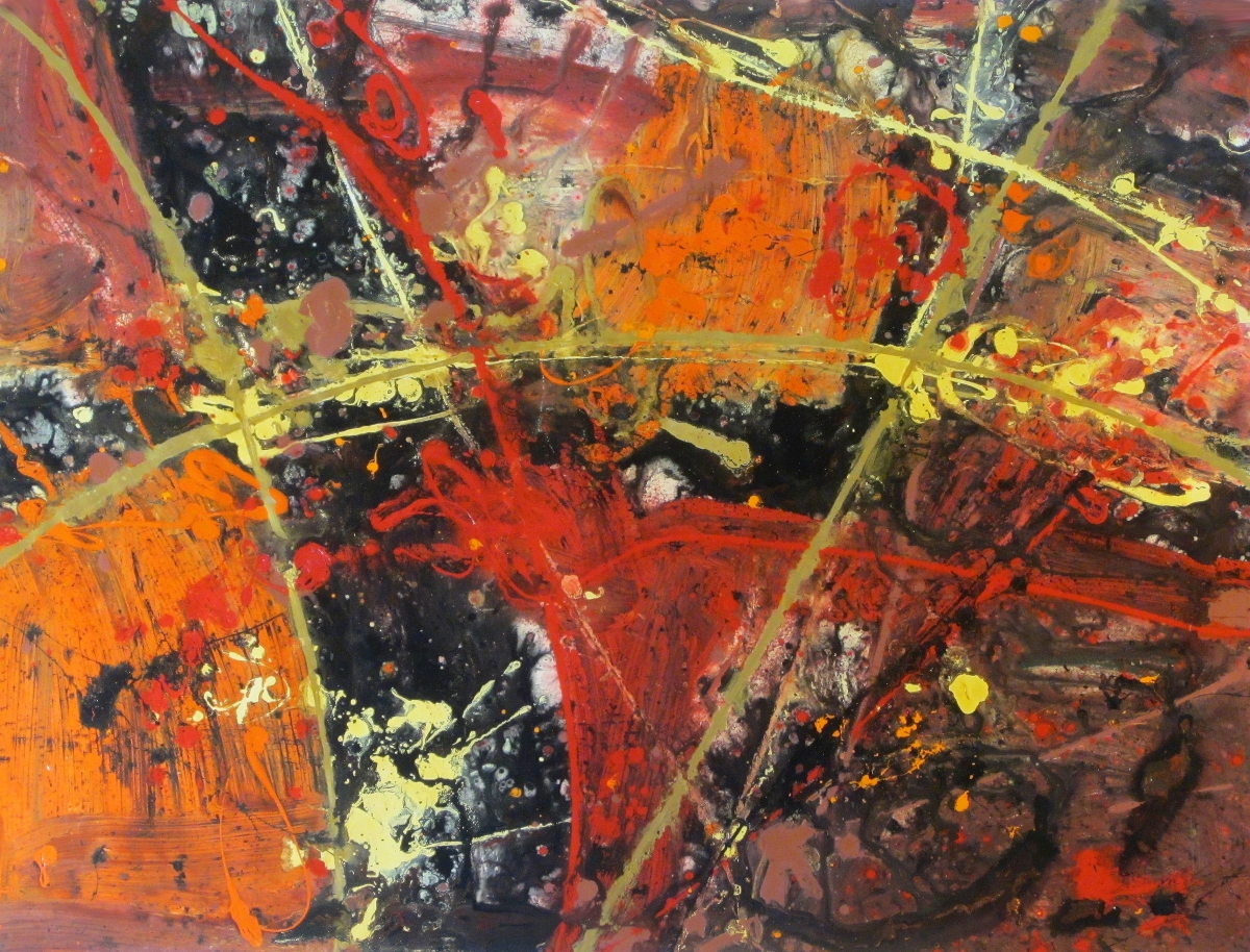 November 2007 Original Art Painting by Ryan Hopkins the Abstract Artist (large view)
