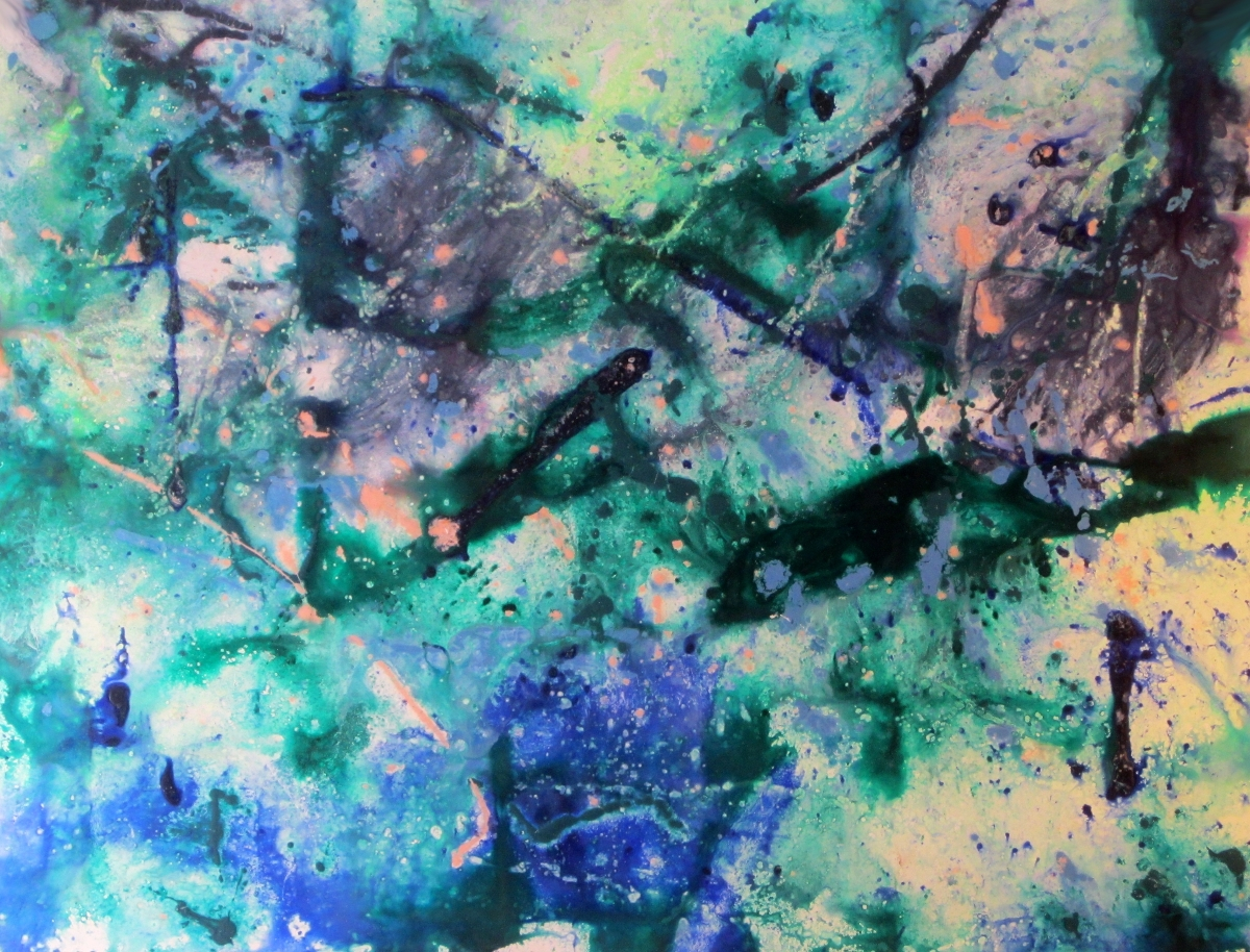 Water Garden 2012 Original Art Painting by Ryan Hopkins the Abstract Artist (large view)