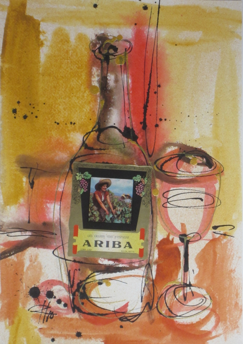 Ariba 2010 Original Painting on Paper by Ryan Hopkins the Abstract Artist (large view)