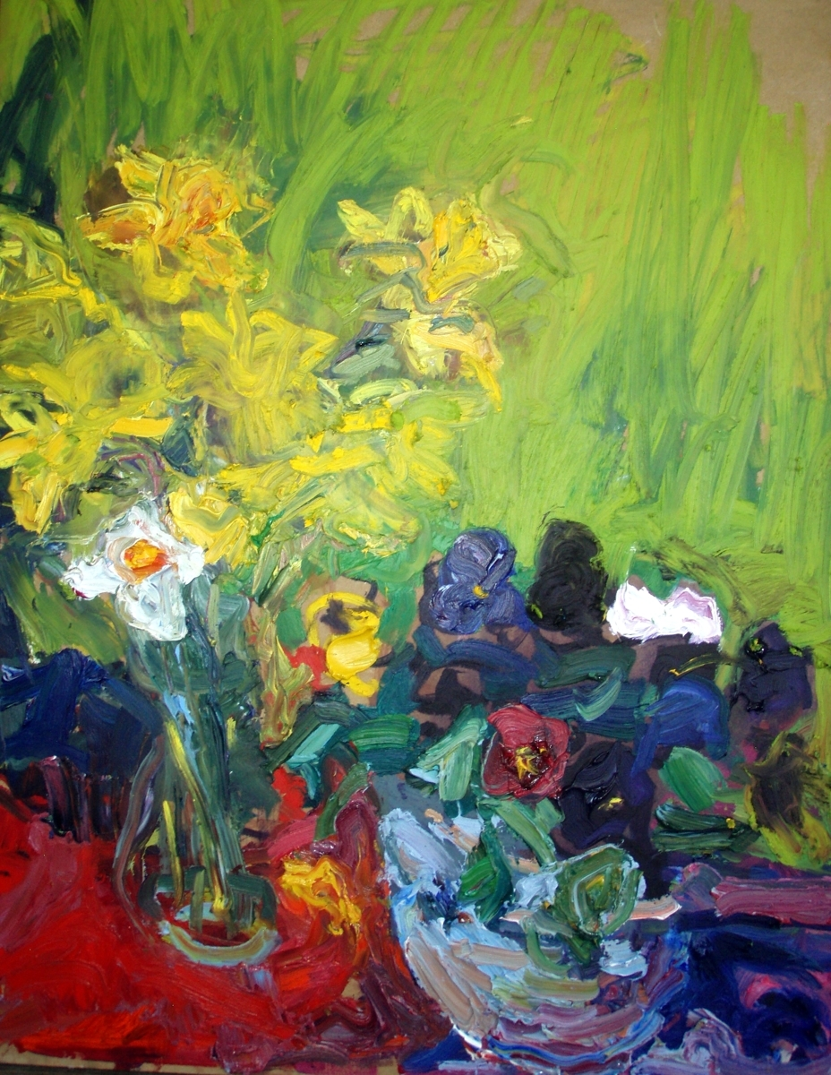 Pansies and Daffodils (large view)