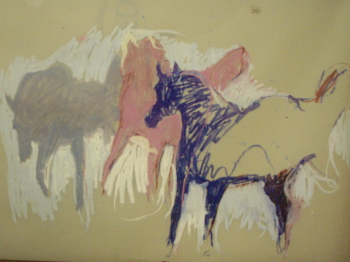 Horse Trio by Hannah Shook